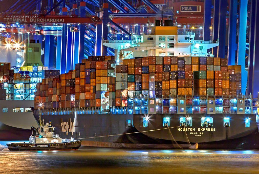 TOP10 der zehn größten Reedereien bei der Verschiffung von Gütern anhand TEU